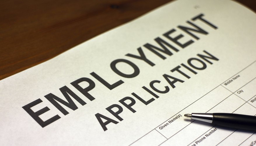 Applying For Employment Form