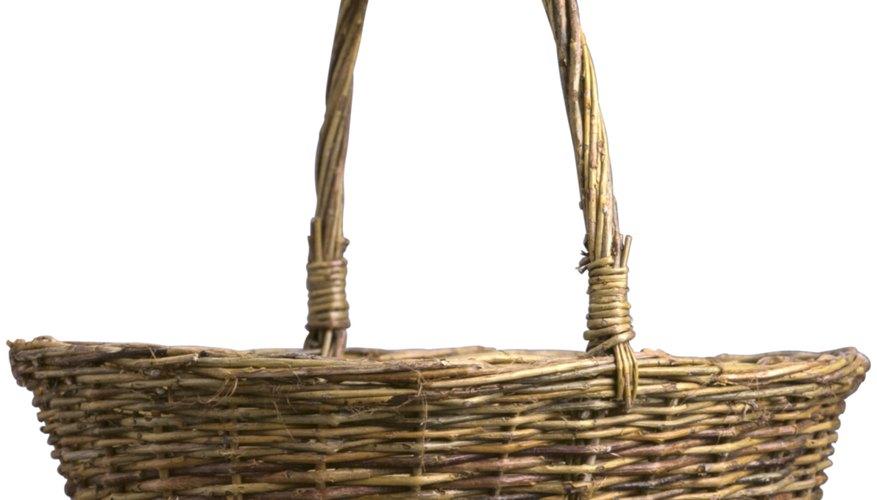 canasta de mimbre casera - Como Hacer Cestas De Mimbre