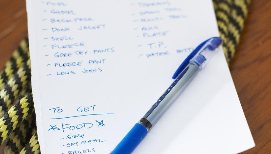 Hacer una lista organiza los puntos claves.