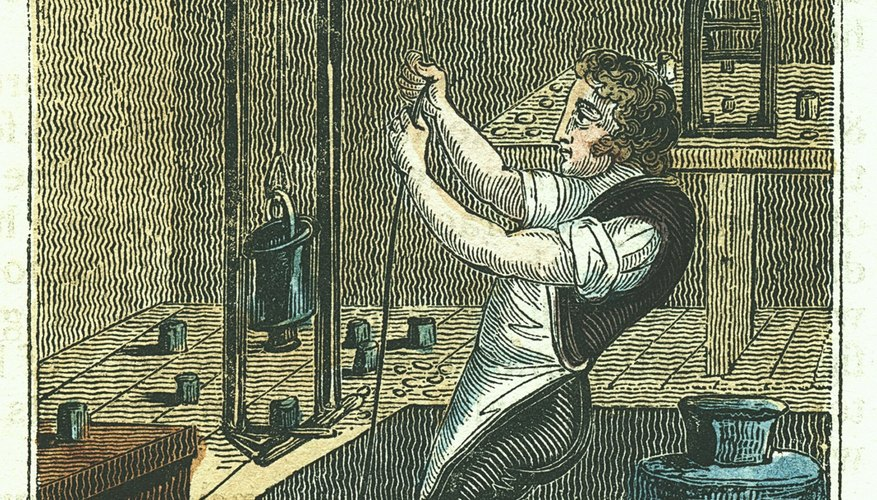 Pulleys allow a stagehand to easily open and close the curtains.