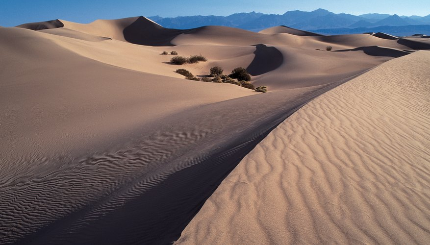 Sand dunes in Death Valley, New Mexico.