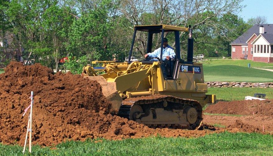 El relleno se usa para remplazar la tierra excavada del suelo.