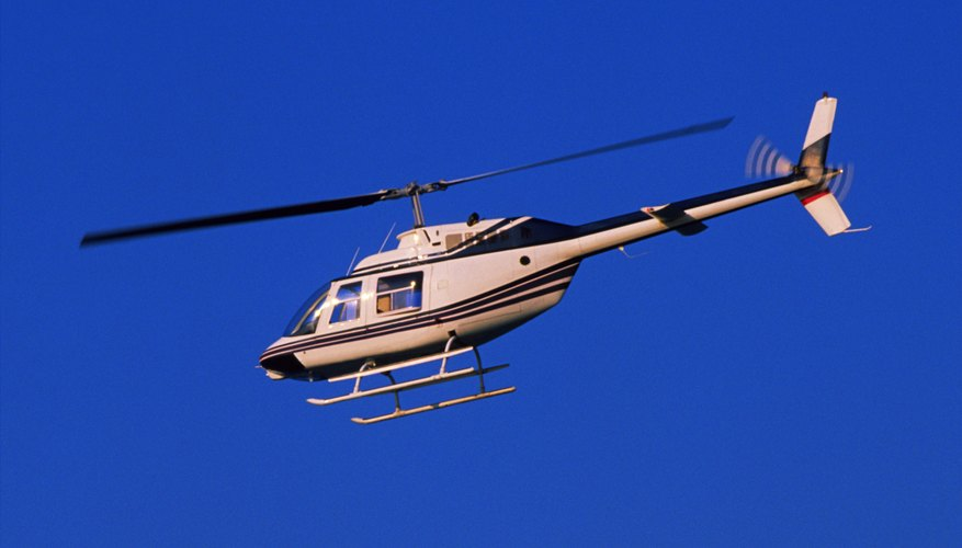 Helicopter in sky