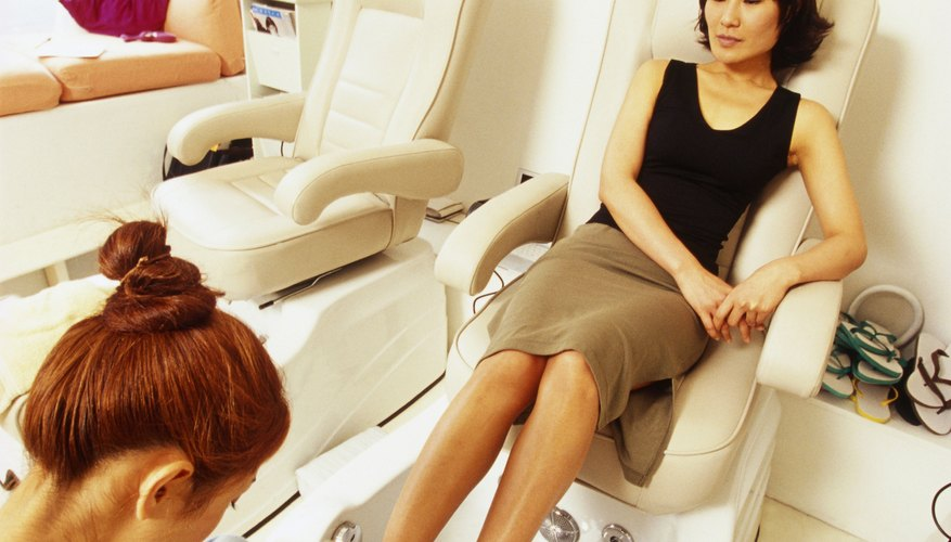 A comfortable pedicure chair encourages repeat business.