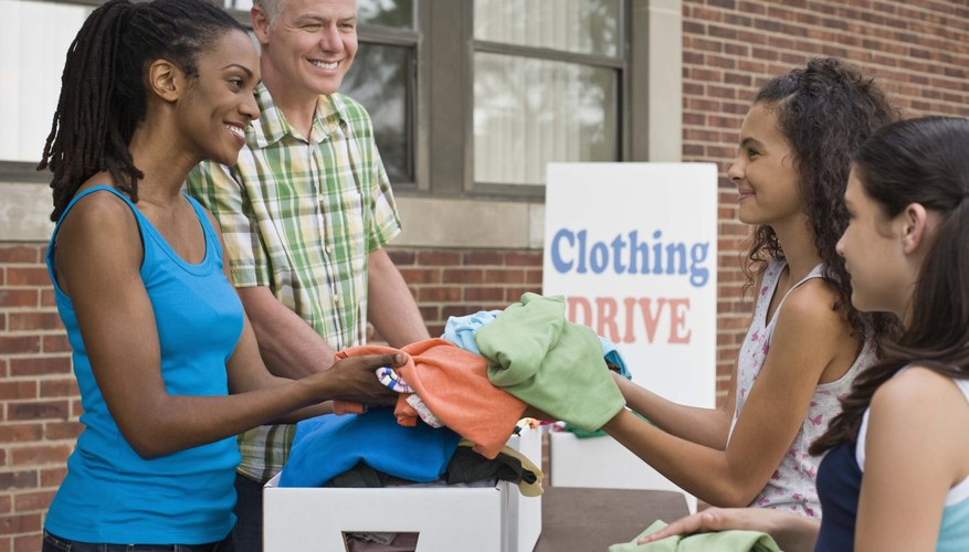Donated clothing helps the community.