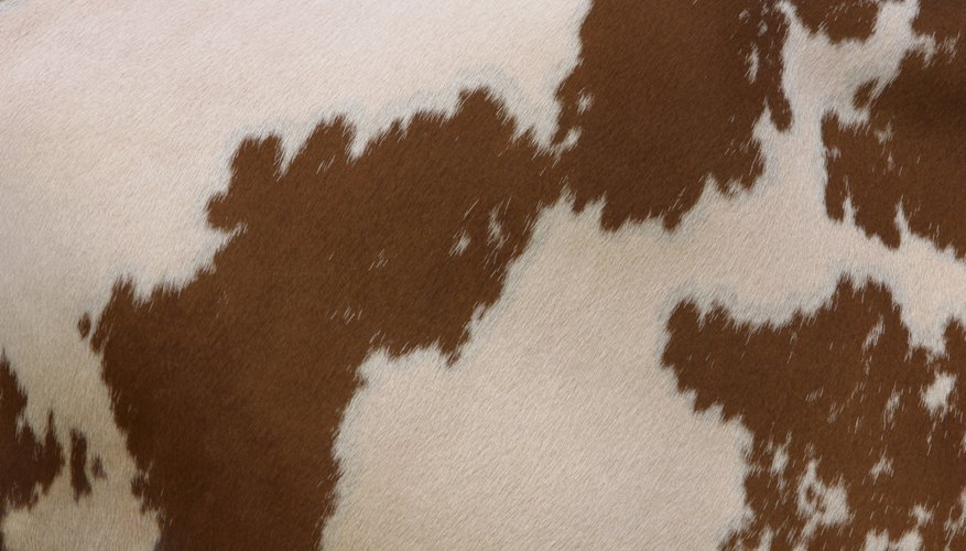 Create either brown or black spots on white microfiber for a DIY cow skin rug.