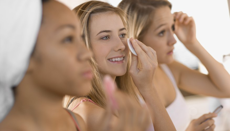 Teenagers should follow a skin-care regimen for their skin.