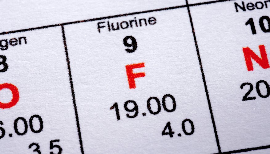 El flúor tiene un número atómico 9 y es el primero de los halógenos en la tabla periódica.