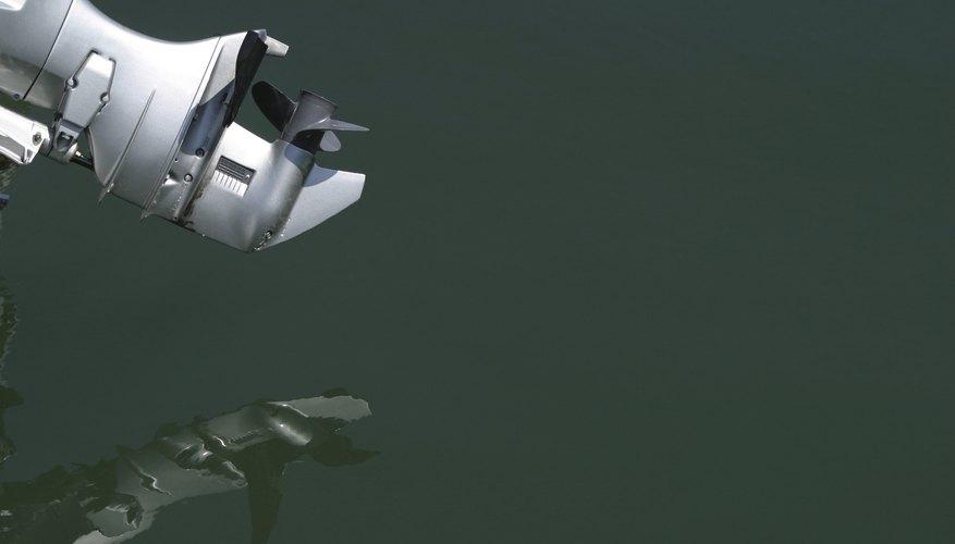 Propeller reflecting in water