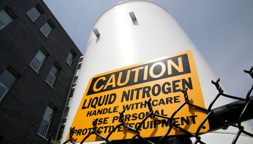 Liquid nitrogen.