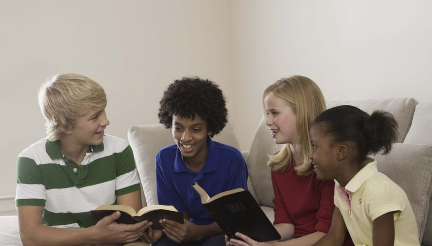 An informal floor plan accommodates games and activities in a youth Sunday school class.