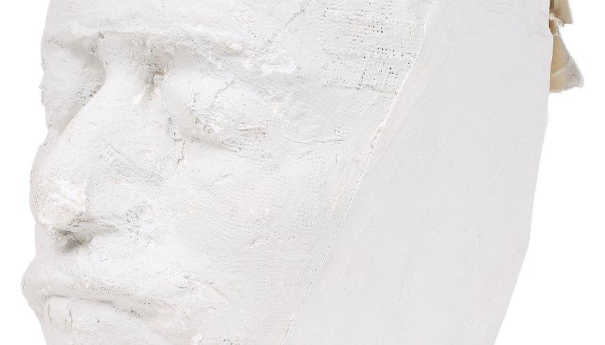 Estatua de yeso.