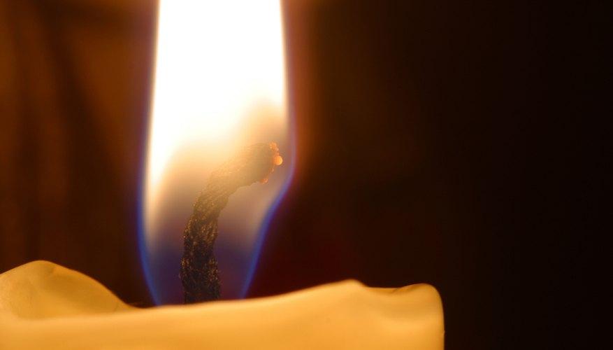 Burning candle close-up