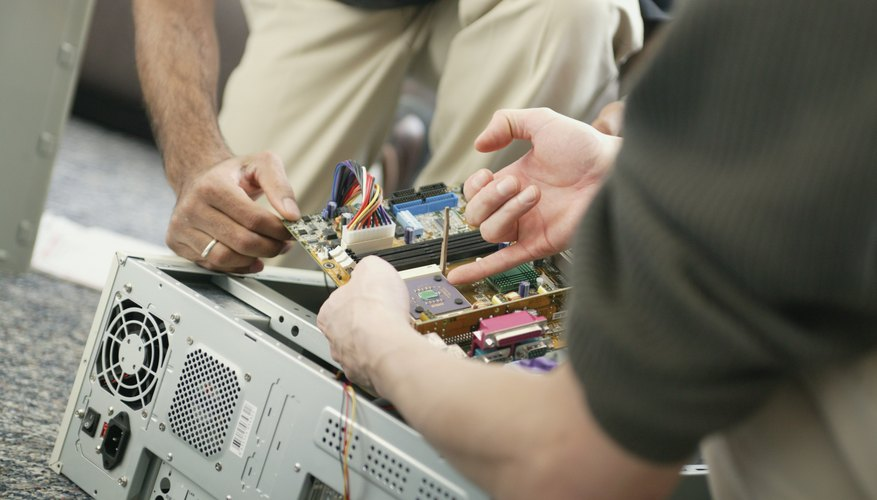 Technicians Working On A Computer Starting Home Repair Business Not Only Allows You