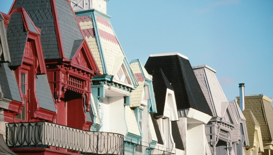 Polychrome wooden Victorian houses were painted multiple colors.