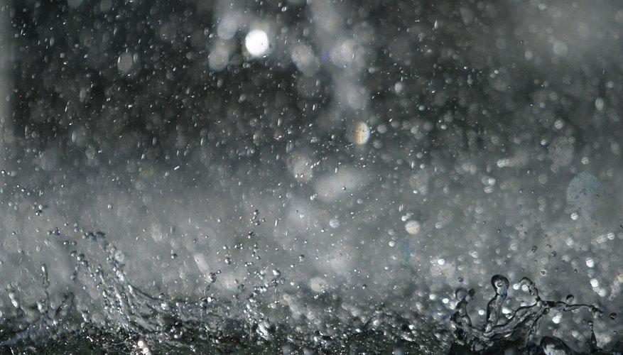 El nivel del pH del agua de lluvia.