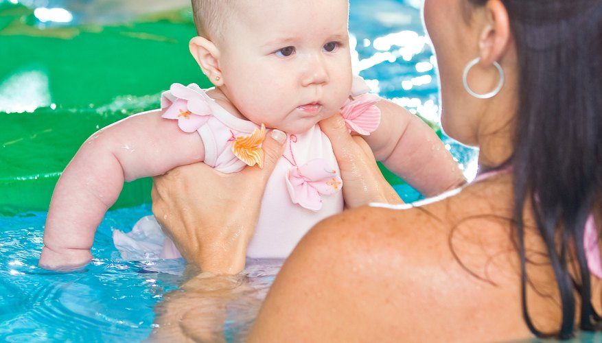 Some doctors may recommend that babies with ear tubes wear protection while swimming.