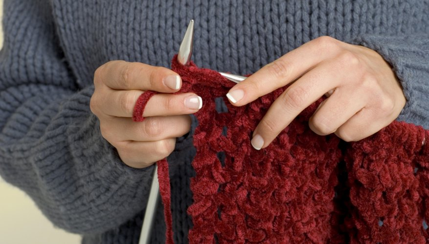 Knitting a project with large needles