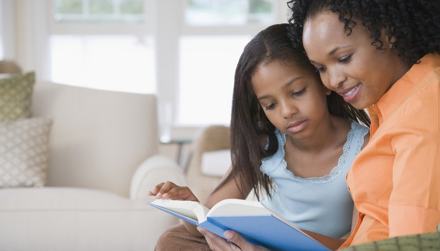 Reading to your child helps boost vocabulary skills.