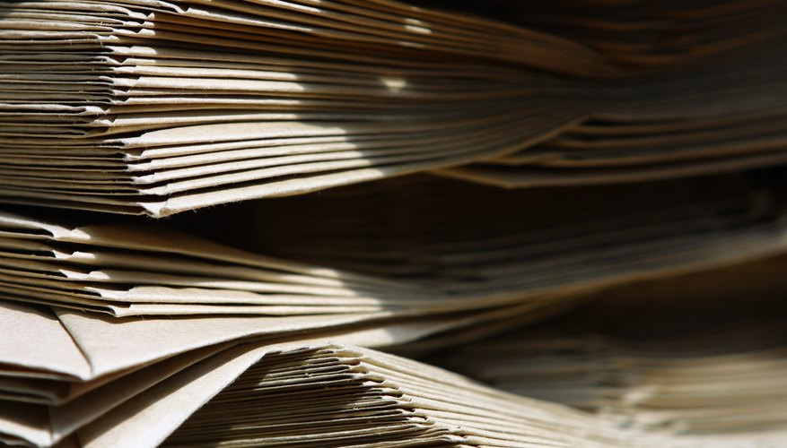 El papel puede hacerse de toda una variedad de fibras.