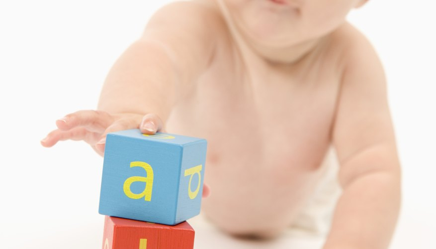 Simple stacking play helps encourage motor skills, constructive play and persistence.