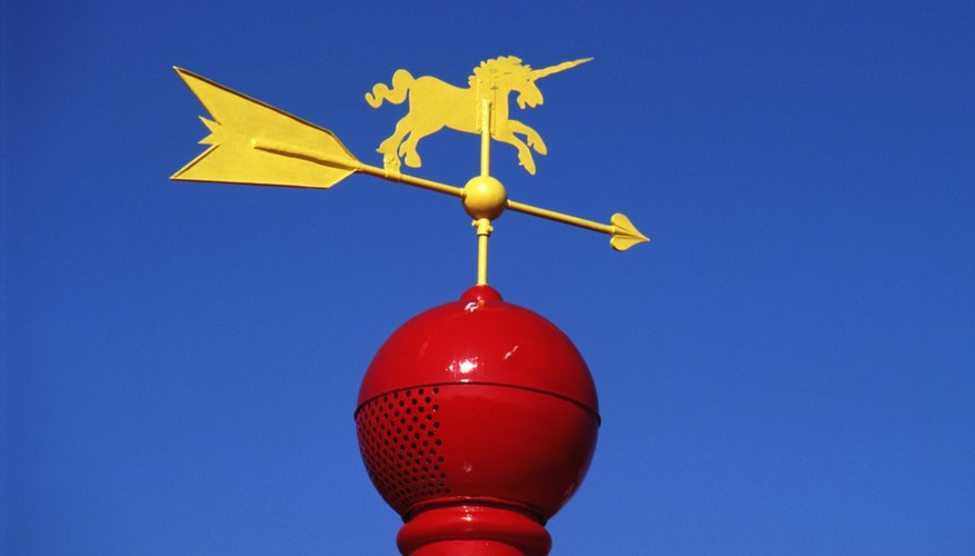 Kids can make a homemade weather vane with simple household items.