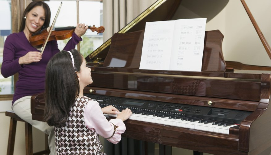 Kids may find pianos in their homes, schools and many other places.
