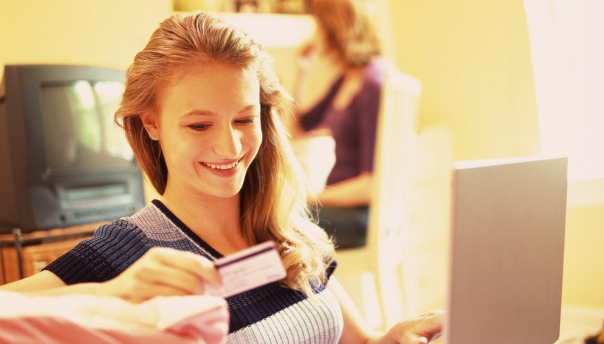 Shop online anywhere credit cards are accepted with a prepaid credit card.