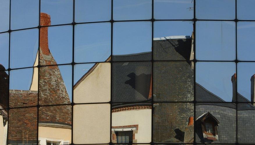Mirrored tiles.