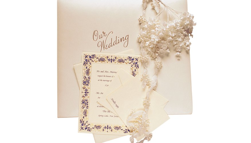Wedding invitations traditionally include information about the ceremony and the reception.