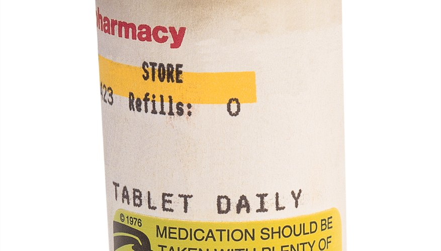 Pill bottle indications