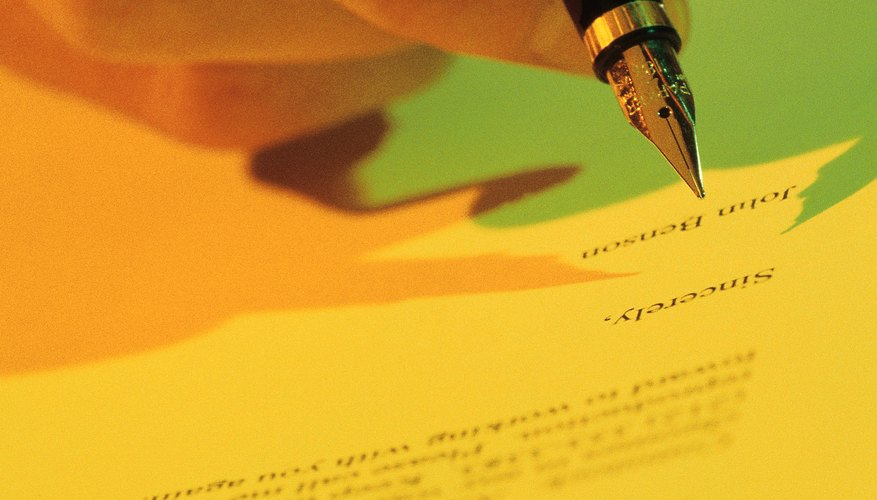 always sign your name in ink on a business letter - How To Close A Business Letter