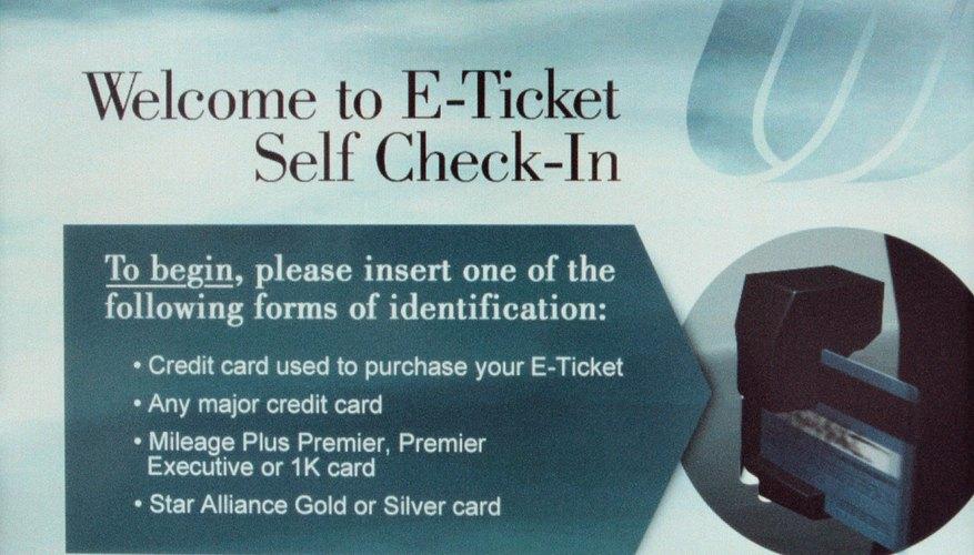Registra el boleto electrónico en la pantalla.