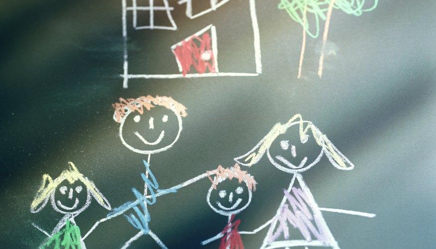 Los alumnos adivinan el adverbio dibujado en la pizarra.