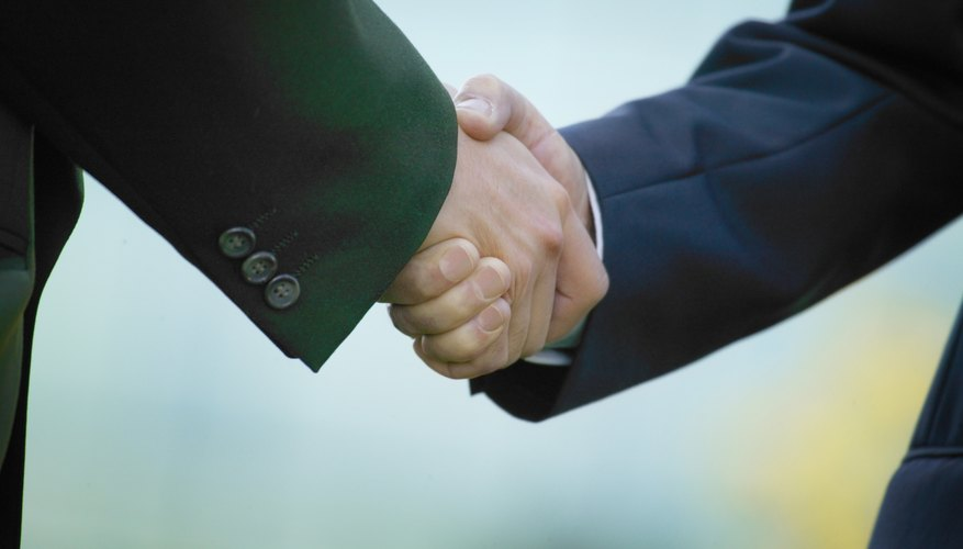 Businessmens handshake