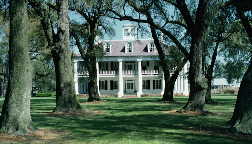 Plantation houses were ornate and usually had several stories.