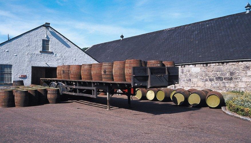 Liquor is often aged in wooden barrels to improve taste.