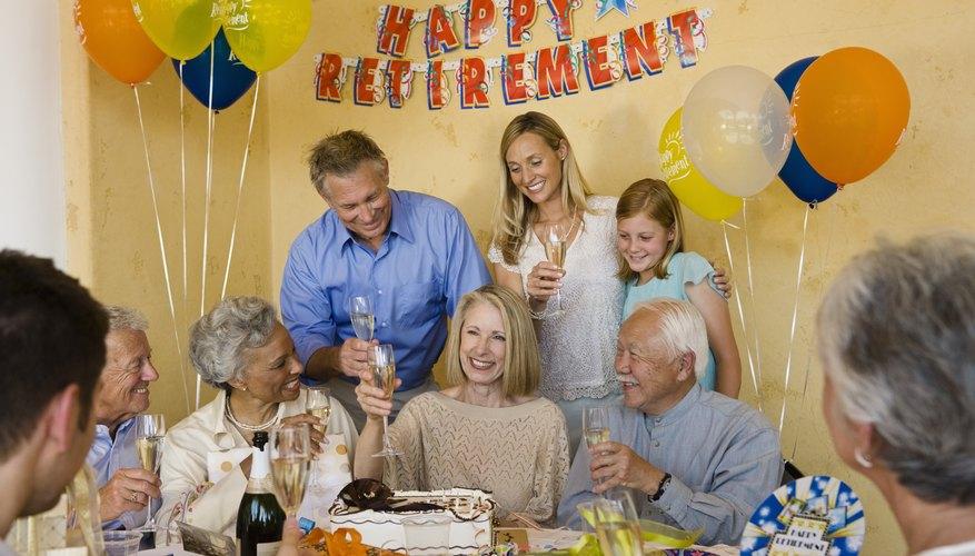 Senior woman celebrating start of retirement