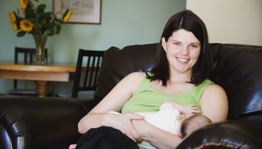 Breastfeeding suppresses the production of estrogen and progesterone.