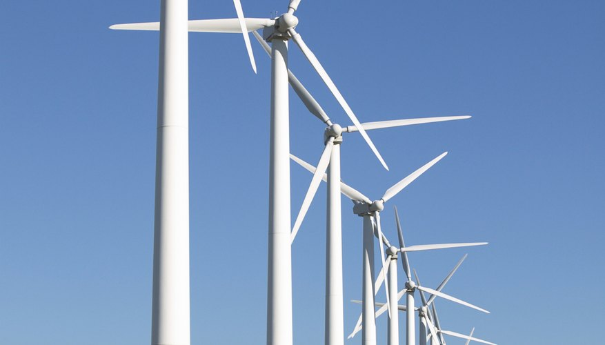 Wind turbines appear on the countryside in ever-increasing numbers.