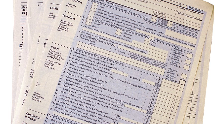 Some taxpayers attach forms called schedules to their returns.