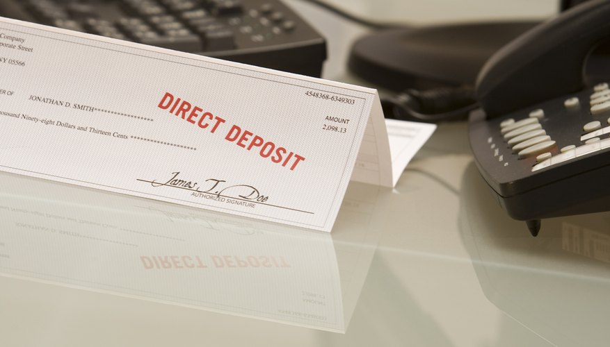 Many individuals elect to receive paychecks and government benefits through direct deposit.