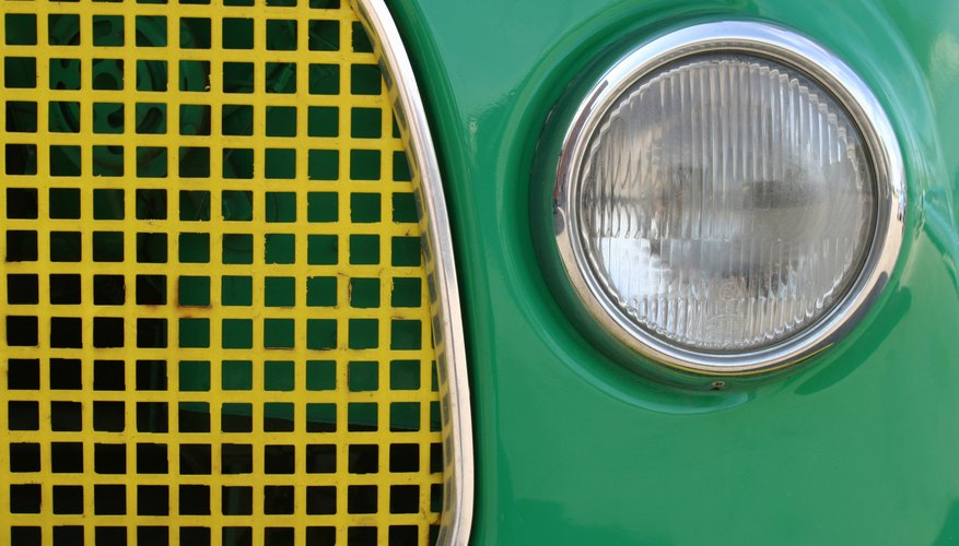 Grill of vintage car