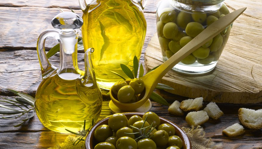 Massage skin with olive oil.