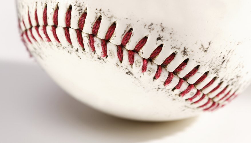 The seam of a softball can be transformed into a bracelet.
