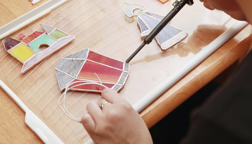 When you simulate stained glass on acrylic, you don't need a soldering iron.