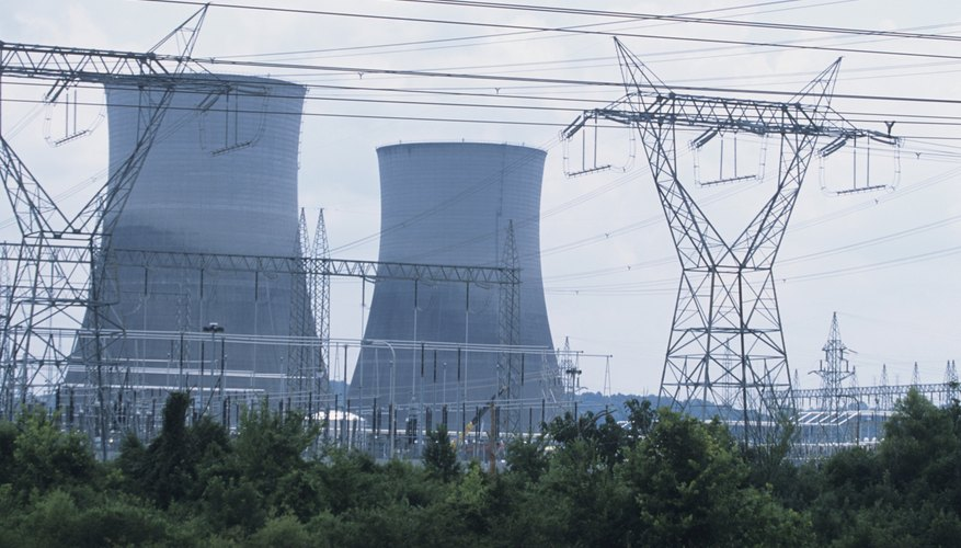 Nuclear power plants deliver energy through a shared electrical grid.