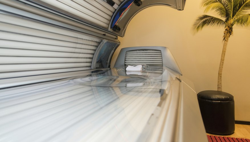 Tanning Bed Solarium At Health Club Spa