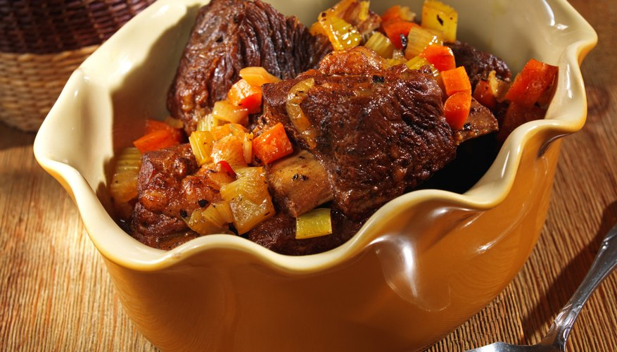 Braised with aromatic vegetables, short ribs are a rich and flavorful cut.