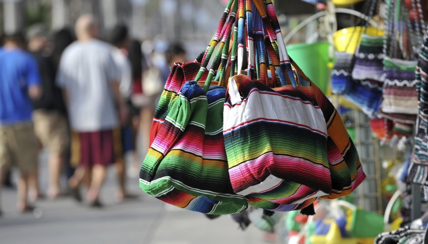 Mexican Bags at Venice Beach Boardwalk Shop California
